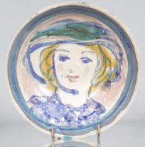 Hand-painted plate