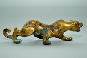 Warring States bronze of a feline