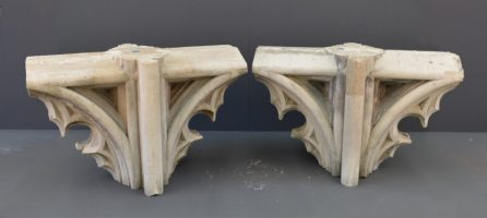 A pair of transom heads