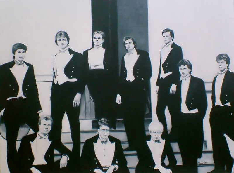 'Class of 87' painting of the Bullingdon Club