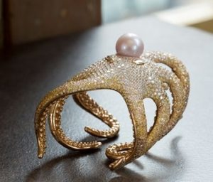 articulated octopus bangle by Shawish Geneva