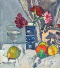 G.L. Hunter's A Still Life of Roses and Fruit