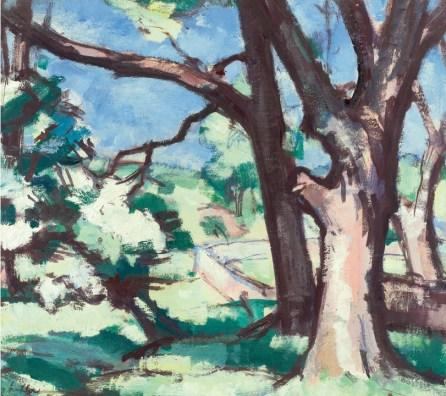 S.J. Peploe, Tree Study, Cassis