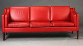 An antique Scandinavian designer sofa