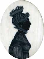 AnAn early 19th century silhouette of a lady