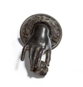 Cast iron C19th English door knocker