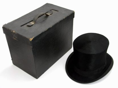 William Moorcroft's silk top hat