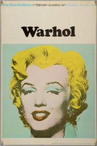 Poster for Andy Warhol exhibition