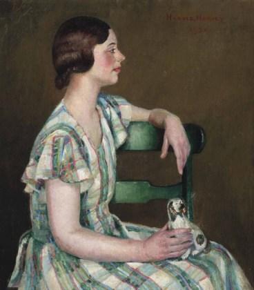 Harold C. Harvey (1874-1941), Study in Green, 1931. Oil on canvas