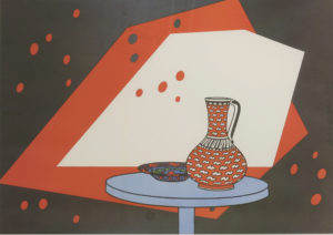 Paul Caulfield's Red and White Still Life