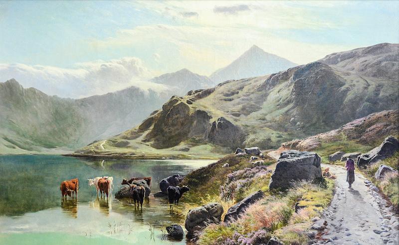 A highland landscape study by Sidney Richard Percy