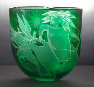 Brian Pennell glass vase