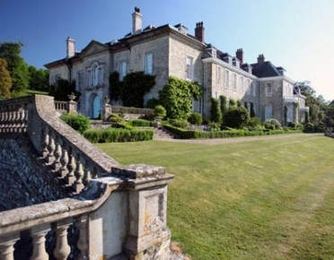 The setting for Firle Place Antiques Fair