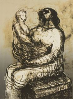 Henry Moore - Mother With Child On Lap