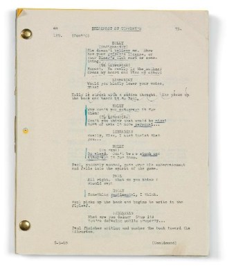 Audrey Hepburn Breakfast at Tiffany's script