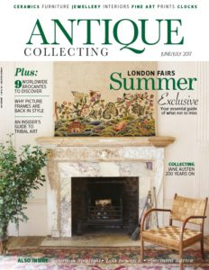 June-July cover of Antique Collecting magazine