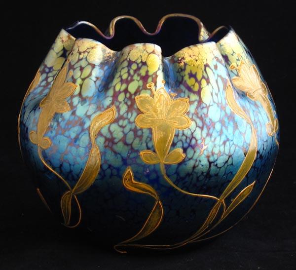 Loetz 'Papillon' glass vase