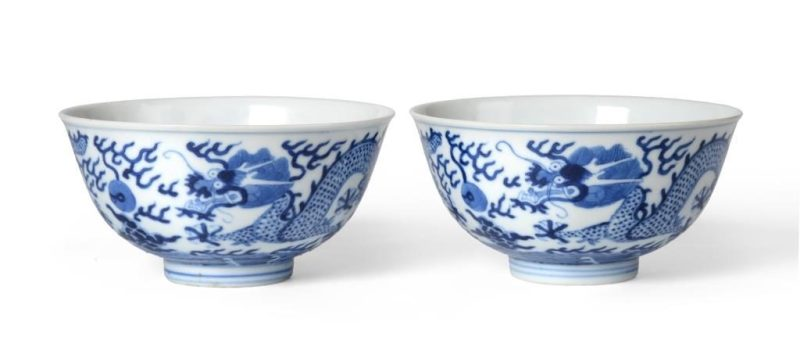 The pair of Dragon bowls