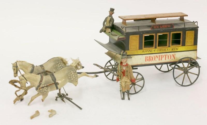 German tin toy omnibus