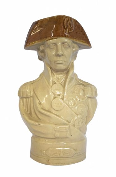 A Staffordshire bust of Nelson from Leon's collection of military antiques