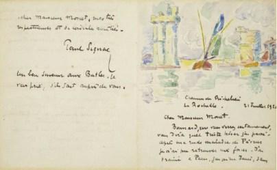 Claude Monet letter