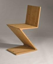 Gerrit Thomas Rietveld 'Zig-Zag' Chair Designed 1934, executed 1950 by Gerard van de Groenekan, Utrecht Estimate: £15,000-20,000