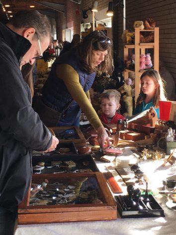Visitors to Stoneleigh Park Antiques Market