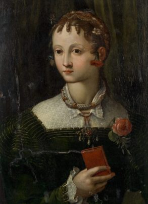 HMG Portrait of a girl with a red book