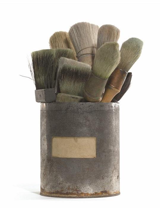 Twelve Brushes from Howard Hodgkin's Studio. Estimate £500-700, Lot Sold £4,375