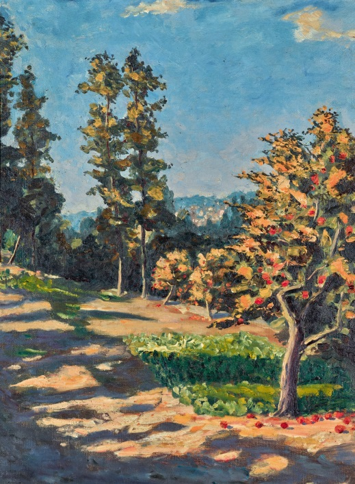 Painting by Sir Winston Churchill of South of France