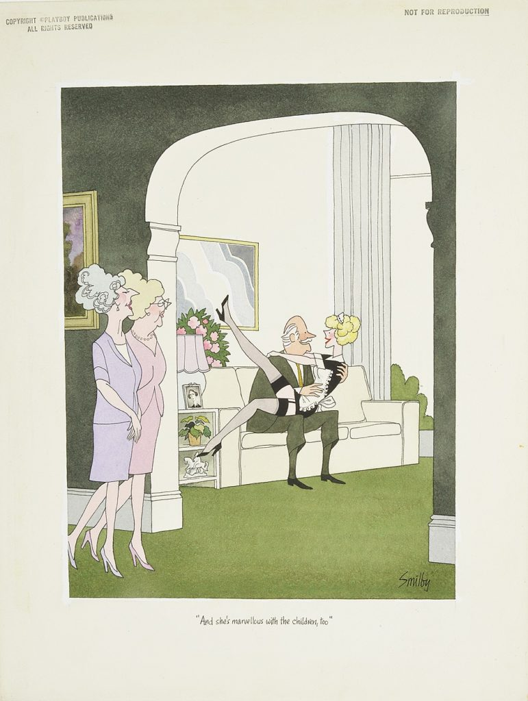 Playboy cartoon at Catherine Southon Auctions