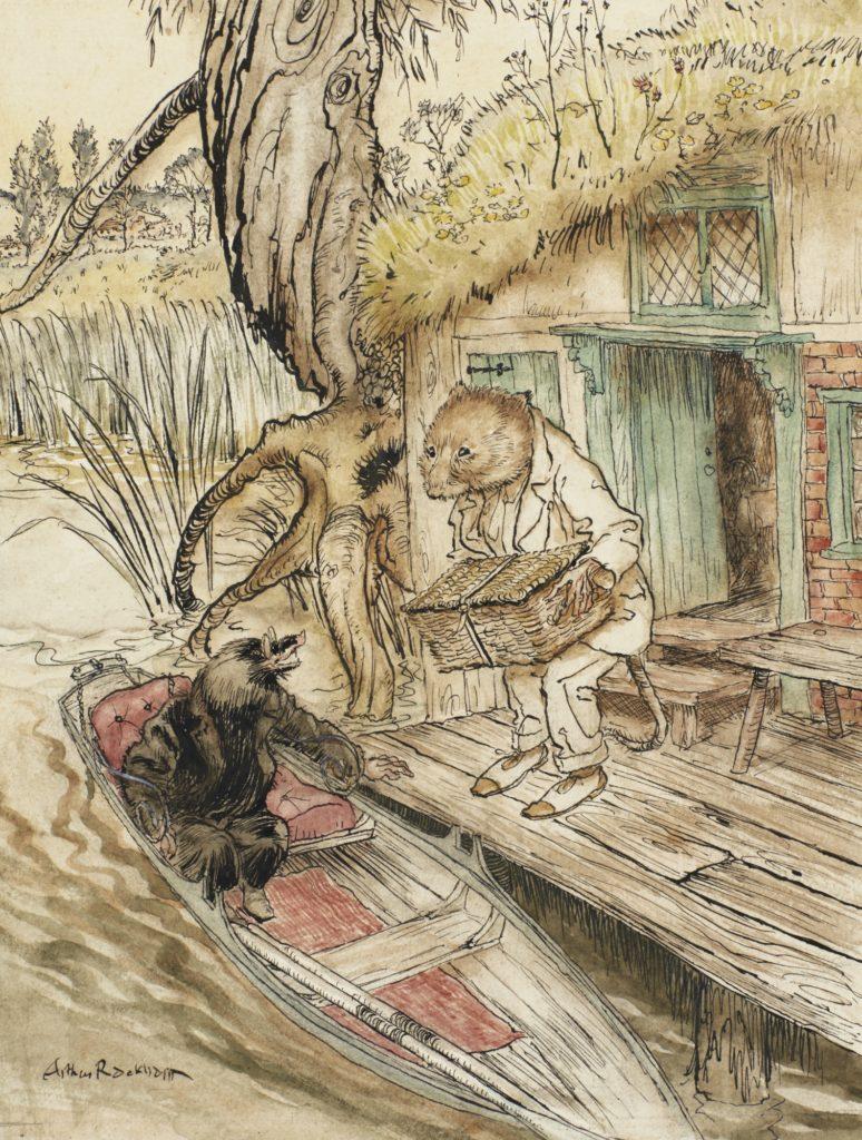 Arthur Rackham illustration for Wind in the Willows