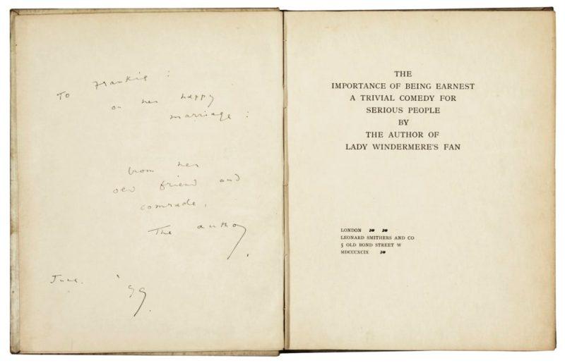 Oscar Wilde Importance of Being Earnest
