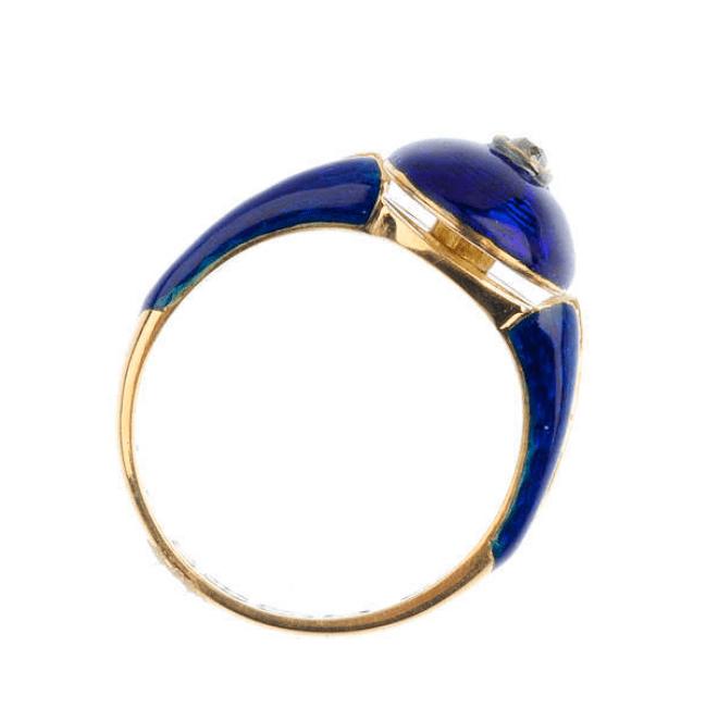 Victorian gold diamond ring