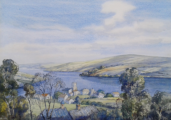 Original Painting Salcombe Devon Donald Greig