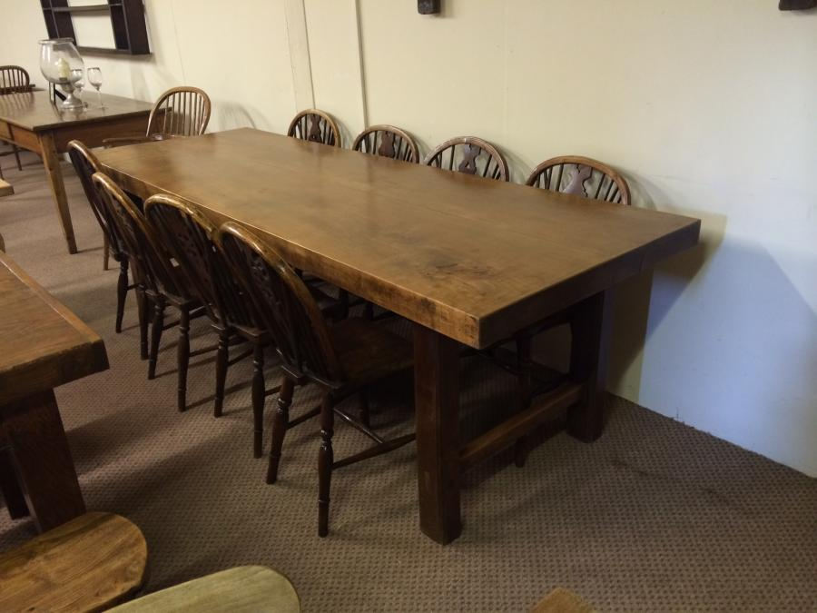 Thick Top Beech 8ft Antique Table Elm Dining Table