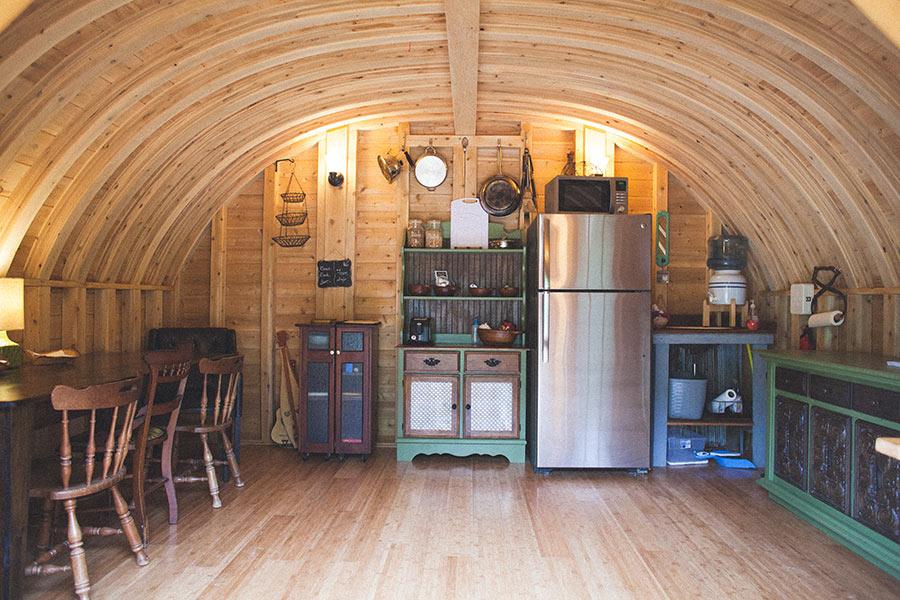Hut interior