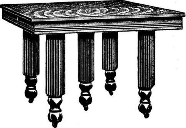 Antique Five Leg Pillar Extension Table At Antique