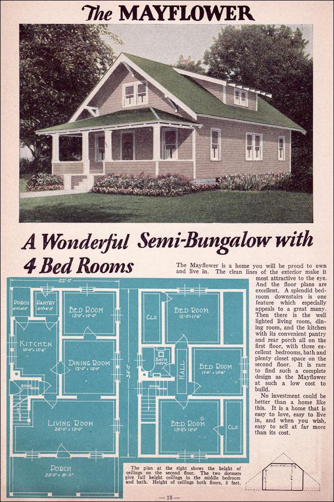 Bungalow 1935 Liberty Homes Lewis Mfg Bay City