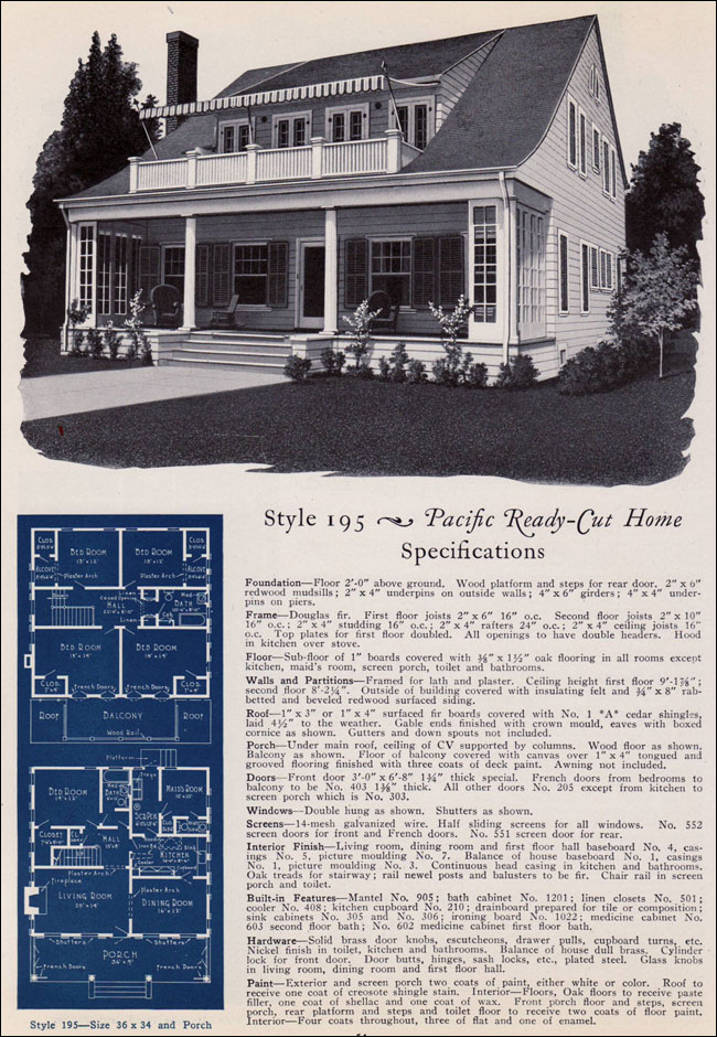 Colonial Revival Bungalow 1925 No 195 Pacific Ready