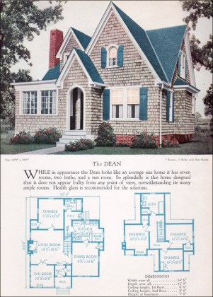 1920s Modern English Style House Plan   The Dean   1928 Home     1928 Home Builders Catalog   Dean