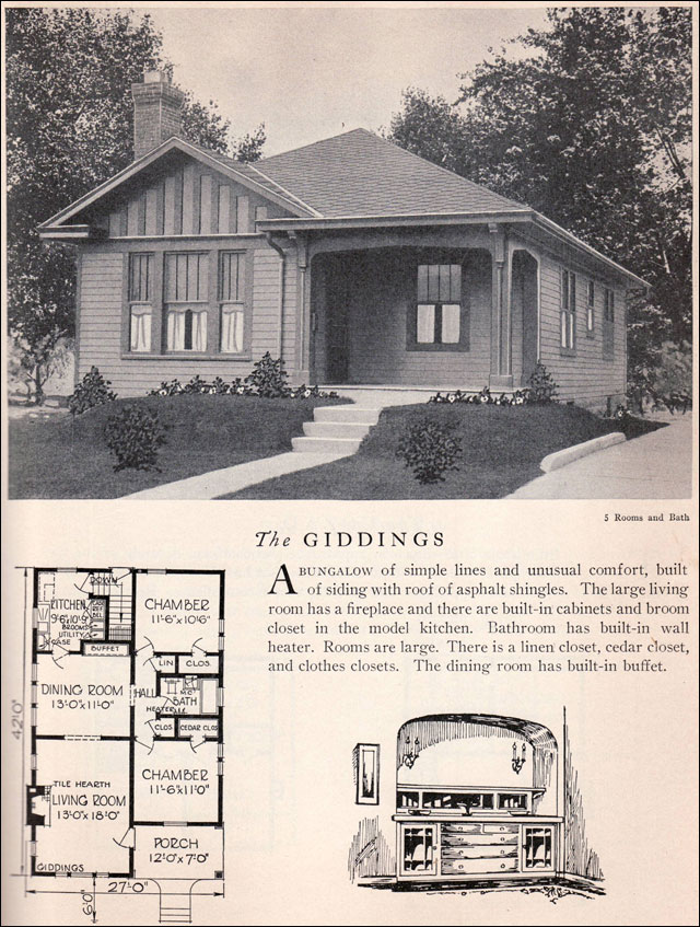 1929 Home Builders Catalog Giddings House Plan