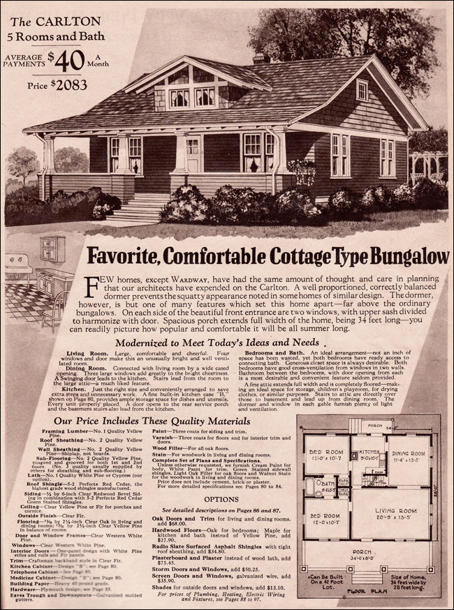 House 1930 Plans Bungalow Style