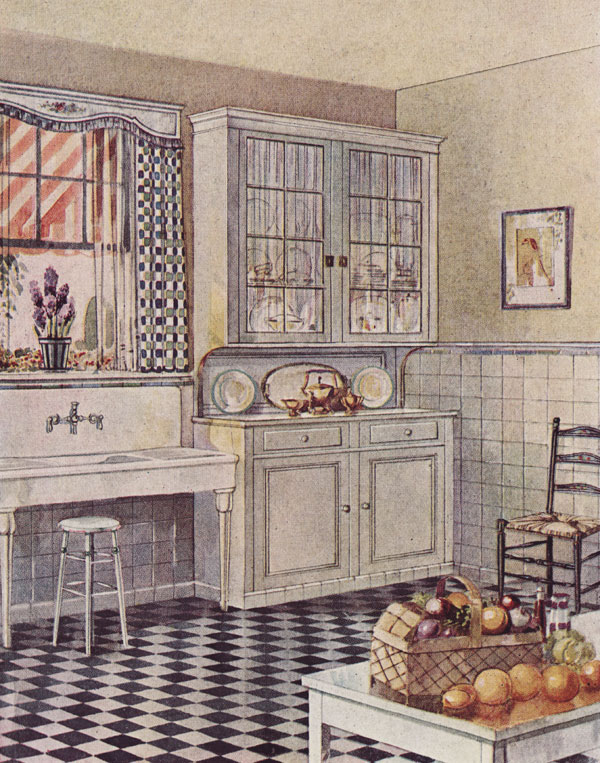 1920s Kitchen Flooring Cabinetry Nooks