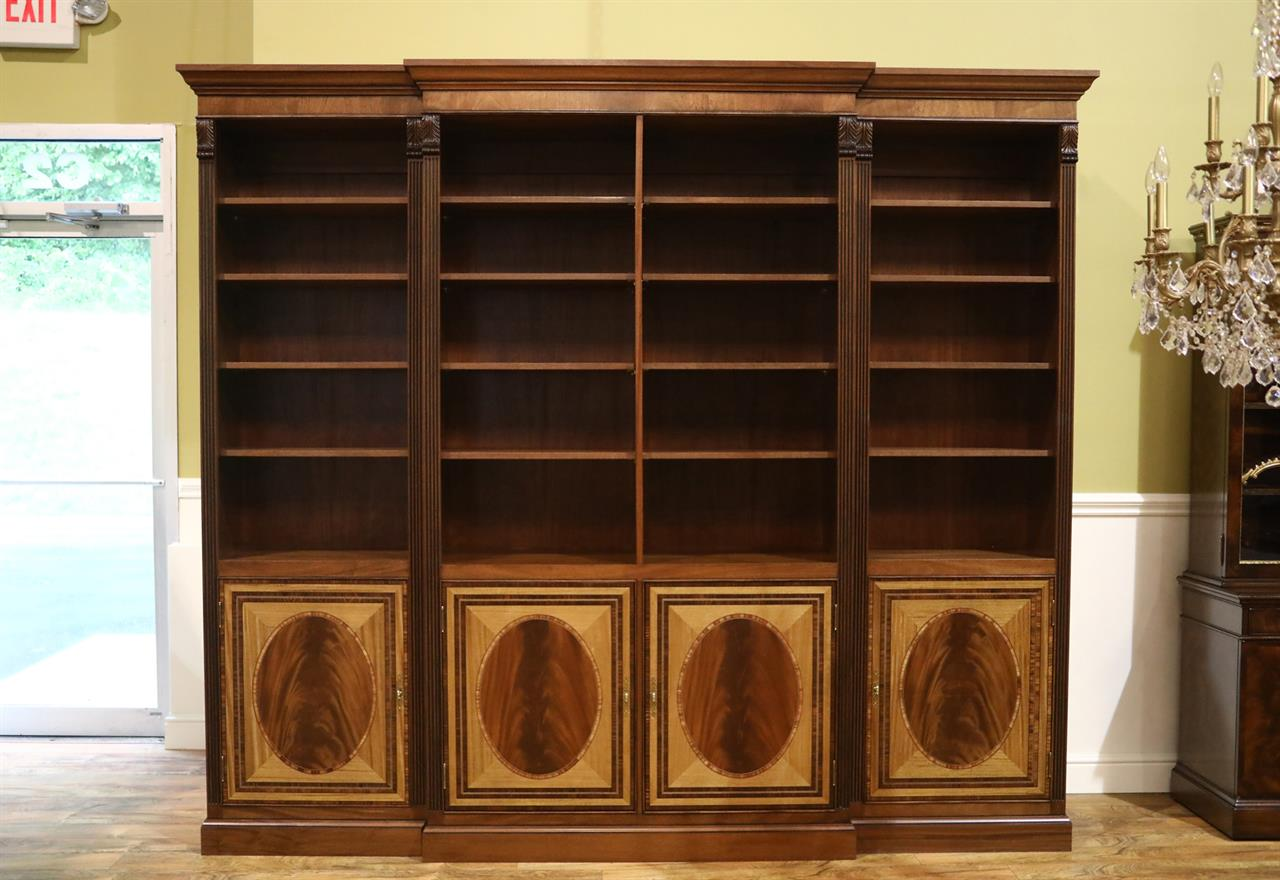 American Made High End Traditional Inlaid Bookcase Customizable