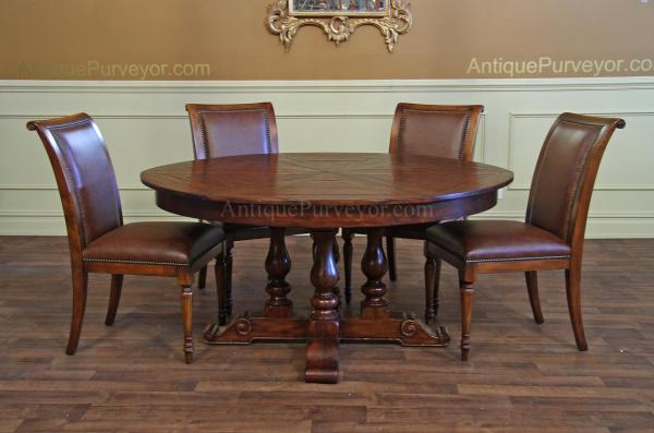 dining tables for sale Round Mahogany Dining Table | Jupe Hidden Leaf Dining Table