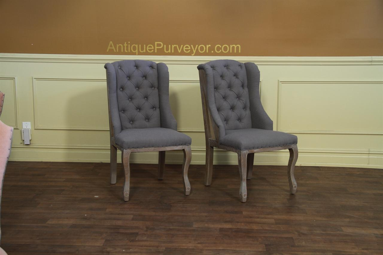 Deconstructed Dining Chair With A Burlap Back
