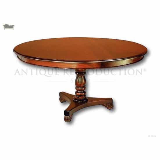 Colonial Victorian Round Dining Table 150cm Antique