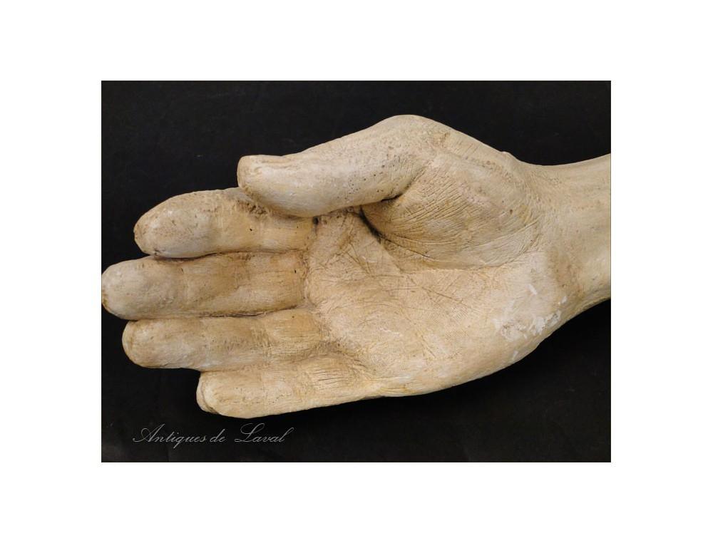 Plaster Sculpture Hand Study 20th