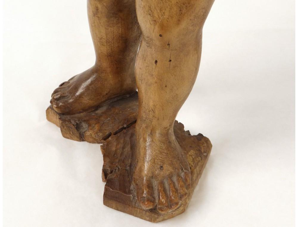 Statue Sculpture Bois Sculpt Enfant Jsus Glise XVIIIme Sicle